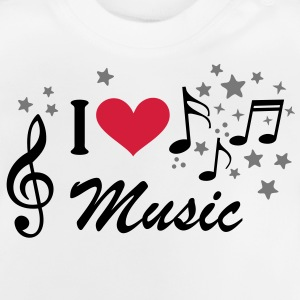 Musik Treble Clef Heart stjerne T-shirts - Baby T-shirt
