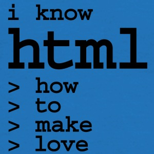 Stoffbeutel I know HTML make love - Männer T-Shirt