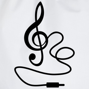 Instant Music Treble Clef Bass Beat Sound T-Shirts - Drawstring Bag