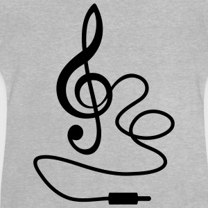 Instant Music Treble Clef Bass Beat Sound T-Shirts - Baby T-Shirt