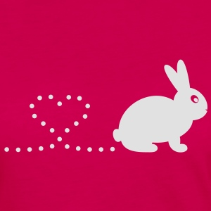 'Pooping Heart Rabbit' Ladies T-Shirt - Women's Premium Longsleeve Shirt