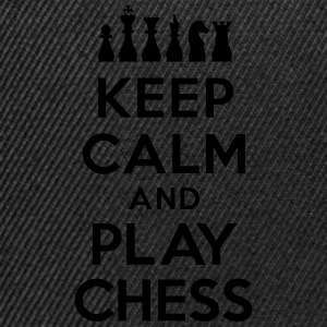 Keep calm and play Chess Tee shirts - Casquette snapback