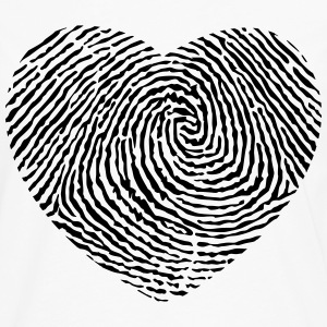 Fingerprint heart  T-Shirts - Men's Premium Longsleeve Shirt