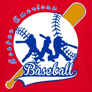 baseball league american Väskor - T-shirt herr