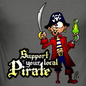Support your local Pirate Sweats - Tee shirt près du corps Homme