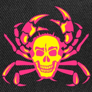 crabe cancer krabbe tete mort skull Tee shirts - Casquette snapback