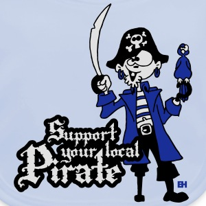 Support your local Pirate T-shirts - Ekologisk babyhaklapp