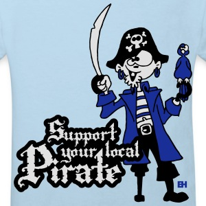 Support your local Pirate Hoodies - Kids' Organic T-shirt