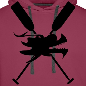 Dragon boat paddle Dragon canoe 1 c. T-Shirts - Men's Premium Hoodie