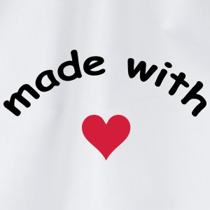 made with heart herz love  T-skjorter - Gymbag