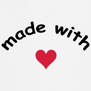 made with heart herz love  T-shirts - Keukenschort