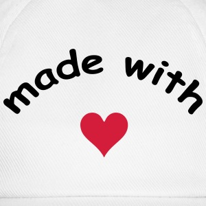 made with heart herz love  T-skjorter - Baseballcap