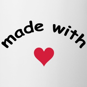 made with heart herz love  T-shirts - Kop/krus