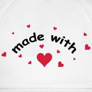 made with heart herz love  T-shirts - Basebollkeps