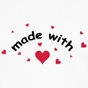 made with heart herz love  T-shirts - Långärmad premium-T-shirt herr