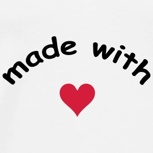 made with heart herz love  Accessories - Men's Premium T-Shirt