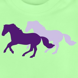 Two galloping horses - you can change all colours Sweatshirts - Baby T-shirt
