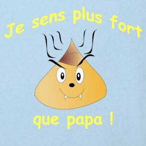 Je sens plus fort que papa ! Sweaters - Kinderen Bio-T-shirt