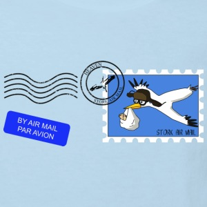 Klapperstorch Luftpost / stork air mail - Kinder Bio-T-Shirt