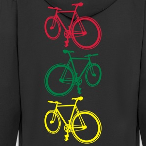 Fixie T-Shirts - Men's Premium Hooded Jacket