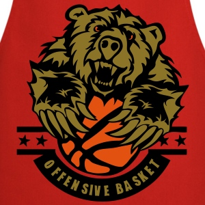 basketball ours bear logo sport Tee shirts - Tablier de cuisine