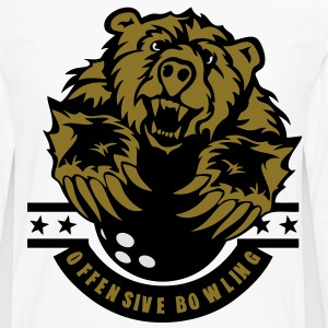 bowling ours bear logo sport Tee shirts - T-shirt manches longues Premium Homme