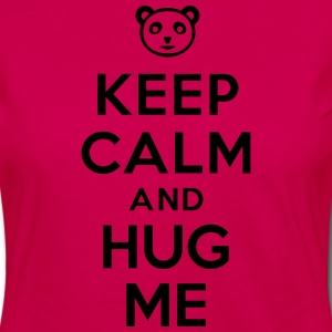 Keep calm and hug me Tabliers - T-shirt manches longues Premium Femme