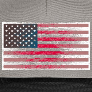 Stofftasche USA-Flagge Used Look - Snapback Cap