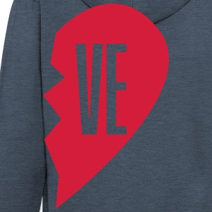 ve - love right side couple shirt Hoodies - Men's Premium Hooded Jacket