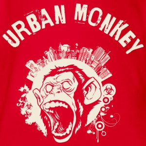 Urban Monkey (positive), DD, yellow Shirts - Organic Short-sleeved Baby Bodysuit