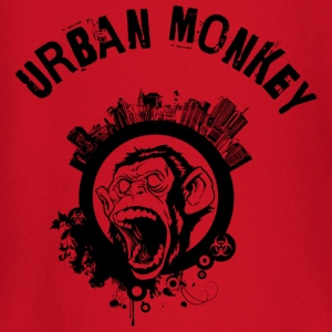 Urban Monkey (inverted), Stadt Affe, DD T-Shirts - Baby Langarmshirt