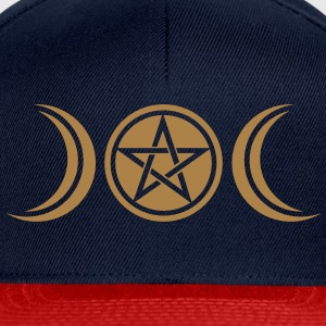 pentagram - wicca triple moon - paganism -magic Camisetas - Gorra Snapback