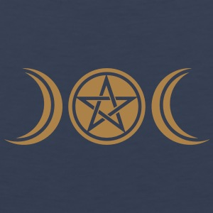 pentagram - wicca triple moon - paganism -magic Camisetas - Tank top premium hombre