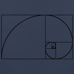 Golden Ratio, Fibonacci, Phi, spiral, geometry T-Shirts - Men's Premium Tank Top