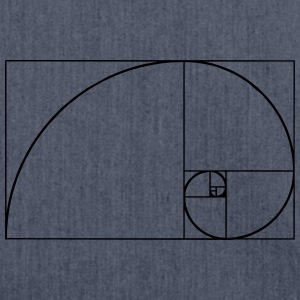 Golden Ratio, Fibonacci, Phi, spiral, geometry T-Shirts - Shoulder Bag made from recycled material