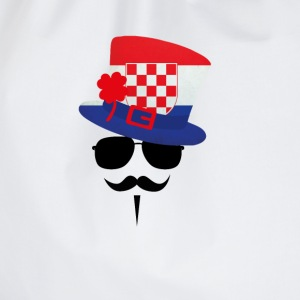 Croatia go Moustache Caps & Hats - Drawstring Bag