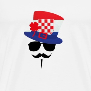Croatia go Moustache Buttons - Men's Premium T-Shirt