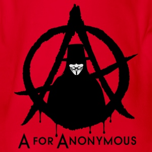 A for Anonymous 2c T-Shirts - Baby Bio-Kurzarm-Body