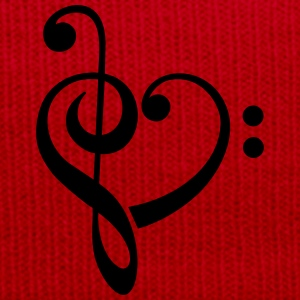 Bass clef heart, treble clef, music lover T-Shirts - Winter Hat
