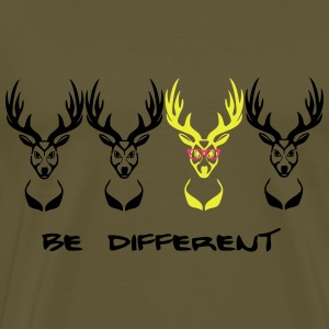 Be different! Deer Nerd Geek 3c Bags  - Men's Premium T-Shirt