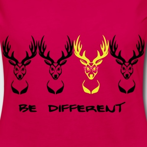 Be different! Deer Nerd Geek 3c  Aprons - Women's Premium Longsleeve Shirt
