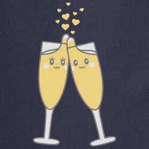 Champagne Glass Love Camisetas - Delantal de cocina