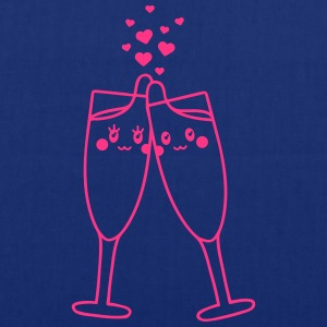 Champagne Glass Love Tee shirts - Tote Bag