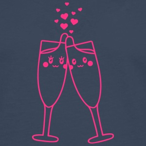 Champagne Glass Love T-Shirts - Men's Premium Longsleeve Shirt