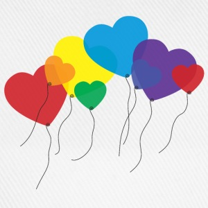 balloon hearts rainbow T-Shirts - Baseball Cap