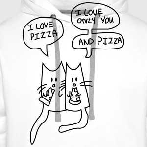 I LOVE PIZZA Tee shirts - Sweat-shirt à capuche Premium pour hommes