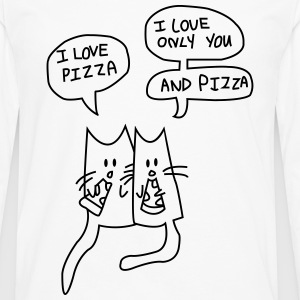 I LOVE PIZZA T-Shirts - Men's Premium Longsleeve Shirt