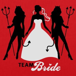 JGA - Team Bride - Braut - Security - Teufel 2C T-Shirts - Tote Bag