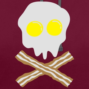 bacon & egg skull Bags  - Contrast Colour Hoodie
