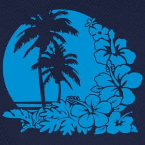 palm sunset ocean T-shirts - Basebollkeps